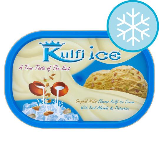Kulfi Ice Original Malai Kulfi Ice Cream 1 Litre £2.35 Tesco