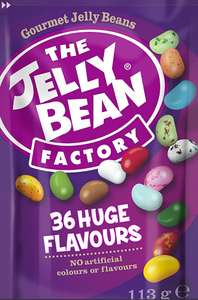 The Jelly Bean Factory 36 Huge Flavours 113g Pouch - Gourmet Jelly Beans £1.25 / £5.74 nonPrime @ Amazon