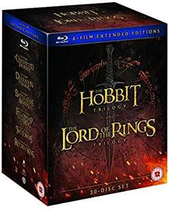 Middle earth 6 film collection extended edition (30 discs) blu ray £55.24 @ Amazon