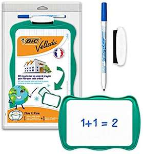 BIC Velleda - Double-sided school board (21 x 31 cm) Dry erase with dry erase Felt and blue erase Green £3.99 Prime / £8.48 NP @ Amazon