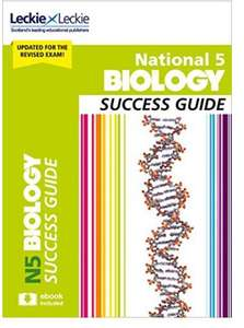 National 5 Biology Success Guide: Revise for SQA Exams (Leckie N5 Revision) Free at Amazon Kindle