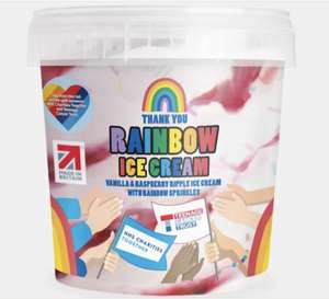 Rainbow Ice Cream 1 litre £1.99 (50p per tub goes to NHS and teenage cancer charity) @ Aldi