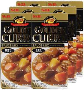 S & B Hot Japanese Curry Mix 6 92g Packs £4.99 - Sold by GreenSheen and Fulfilled by Amazon (+£4.49 non-prime)