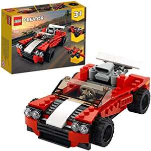 LEGO 31100 Creator 3in1 Sports Car - Hot Rod - Plane Building Set, Toys for 7+ Years Old Boys and Girls £6.75 @ Amazon