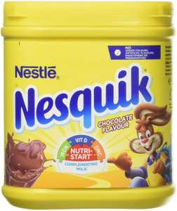 Nesquik Chocolate Flavour Milkshake Powder, 500 g @ Amazon £2 Delivered with Prime (£1.80 S&S) £6.49 Non Prime