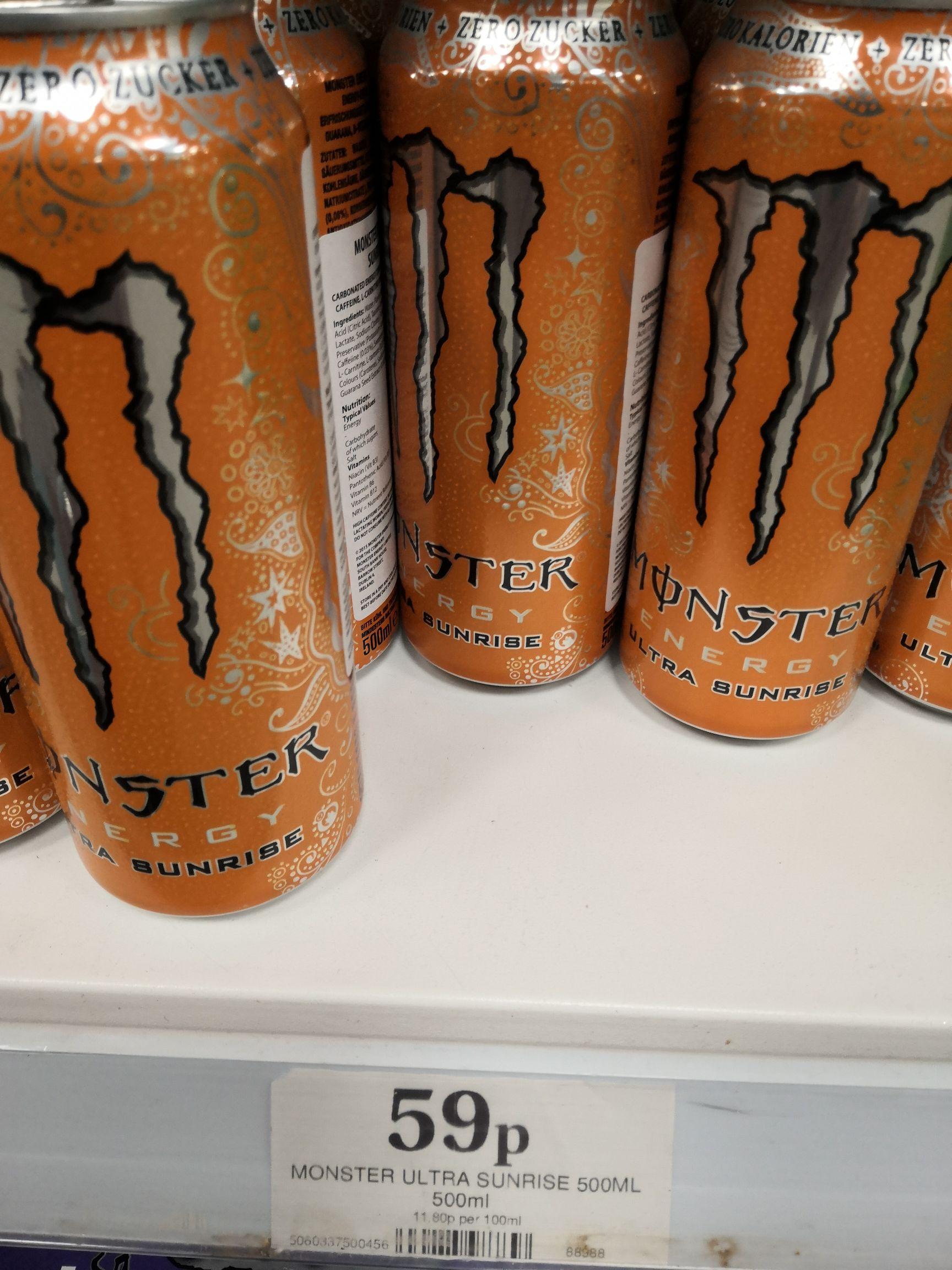 Monster Ultra 59p at Home Bargains Romford.