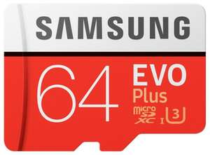 Samsung EVO Plus Micro SDXC UHSI Card with Adapter 100MB/s 64GB, £9.69 at Picstop