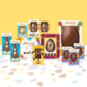 Up to 75% off Easter Eggs + Extra 25% off with code (Delivery is £3.95 or free if you spend £35) at Thorntons