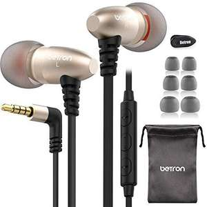 Betron W58 Noise Isolating in-ear Headphones with Microphone and Remote Control - £5.50 With Code @ Betron Store