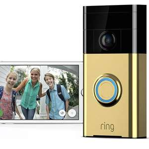 Ring Video Doorbell Full 720p HD WiFi Two-Way Talk Motion Detection Camera Gold refurb, missing box etc £30 delivered on eBay / printmaniacs