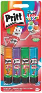 Pritt Rainbow Stick, 10 g - Pack of 4 - £3.50 (+£4.49 NP) @ Amazon