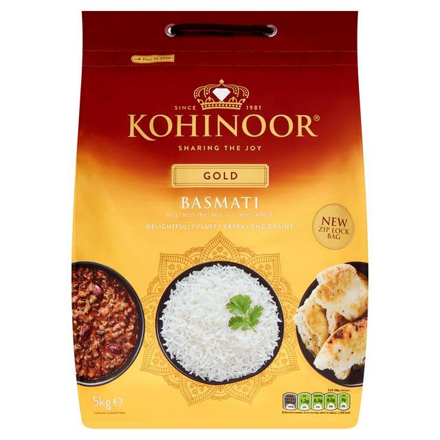 Kohinoor Extra Long Basmati Rice 5kg - £8 @ Sainsbury's