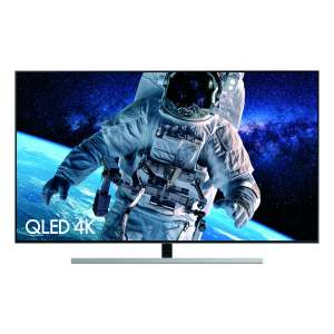 "Samsung QE65Q80R (2019) QLED HDR 1500 4K Ultra HD Smart TV, 65"" with TVPlus/Freesat HD & Apple TV App, Eclipse Silver £1079 @ Hughes"
