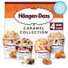 Haagen-Dazs Mini Cups 4 X 95Ml - Caramel / Fruit / Chocolate / Vanilla for £3.00 @ Tesco