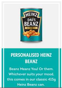 Personalised Heinz products delivered for fathers day - From £5.49 @ Heinz