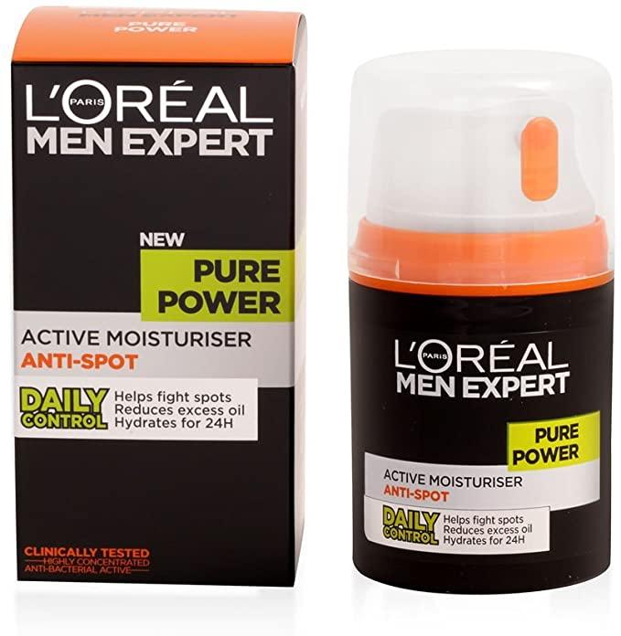 L'Oreal Men Expert Pure Power Anti-Spot Moisturiser 50ml £4, £3.80 Subscribe And Save (+£4.49 Non-Prime) @ Amazon