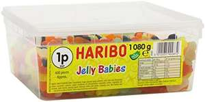2 x 1080g tubs HARIBO Jelly Babies £9.49 Prime / £9.02 with S&S (+£4.49 Non Prime) @ Amazon