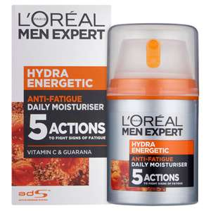 L'Oreal Paris Men Expert Hydra Energetic, Anti-Fatigue Moisturiser for Men, 50 ml - £5 (+£4.49 Non-Prime) @ Amazon