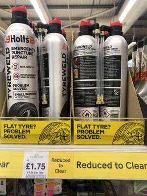 Holts Tyre Weld Emergency Puncture Repair £1.75 Instore @ Tesco (Brighouse)