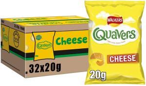 Quavers 32 pack box £4 @ Sainsburys (Northwich)