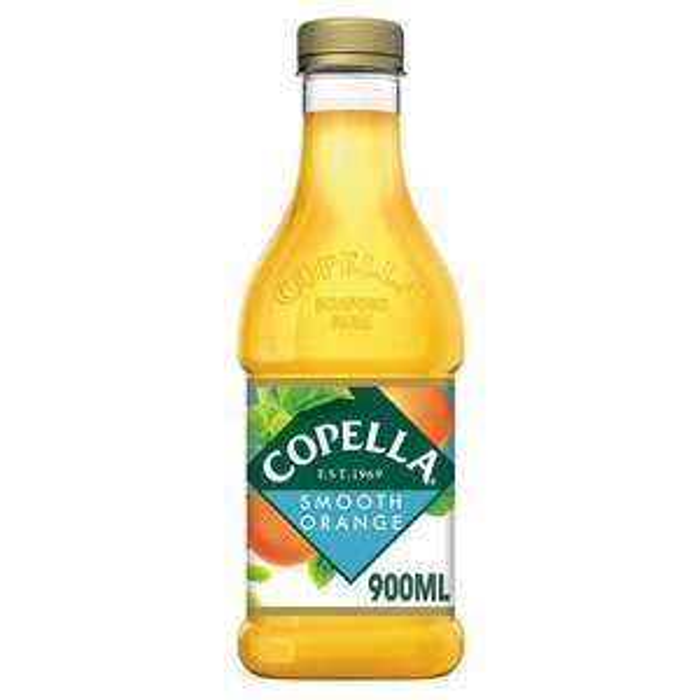 900ml Copella Smooth 100% Orange Juice. 89p @ Heron Foods Abbey Hulton.