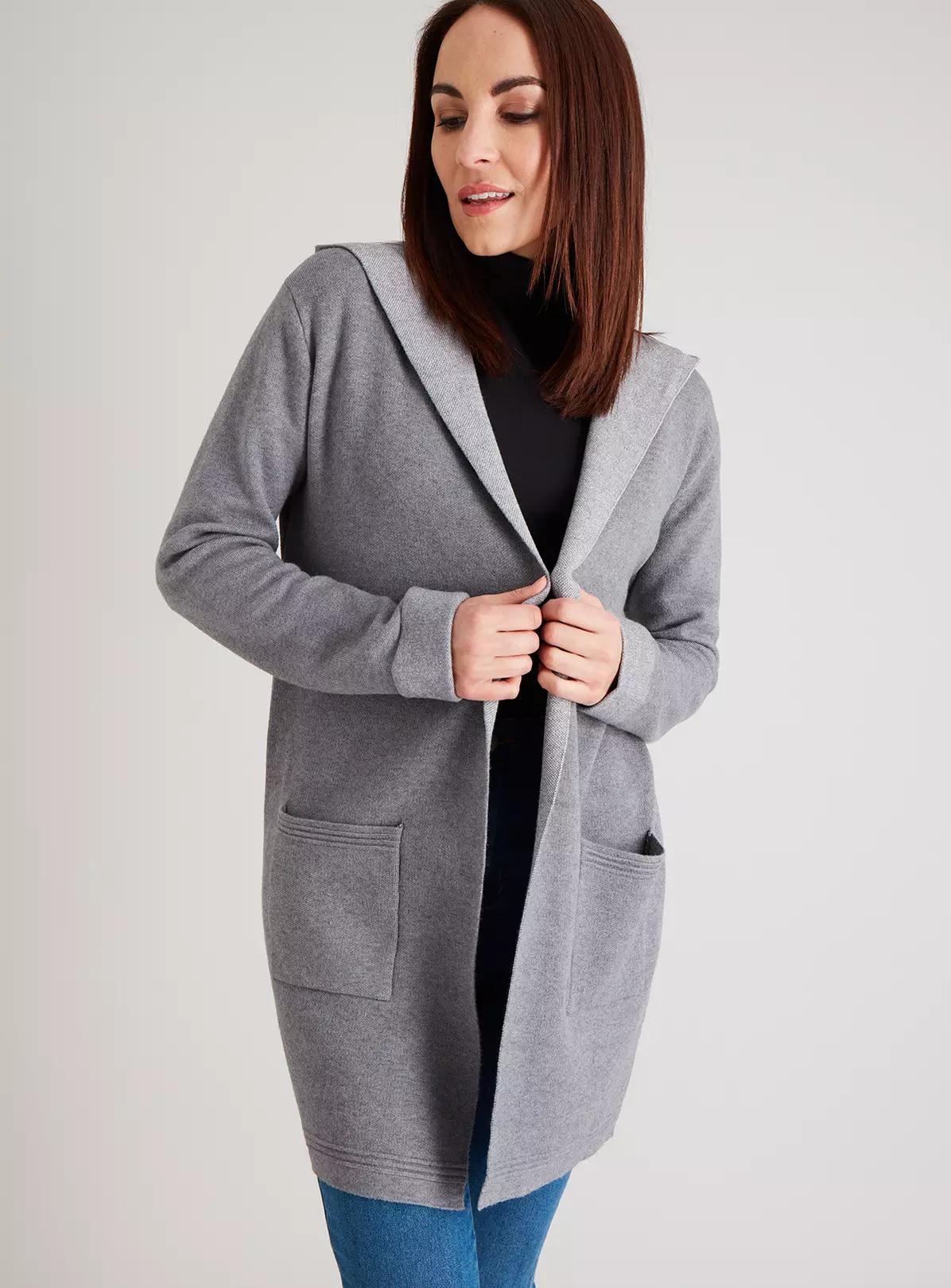 Grey Hooded Coatigan BACK IN STOCK With Pockets £7.50 @ Argos )