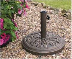Cast Iron Effect Parasol Base - Bronze Colour - delivered for £22.51 by CPCFarnell