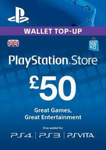 £50 Playstation network/wallet top up for £41.29 via CDKeys