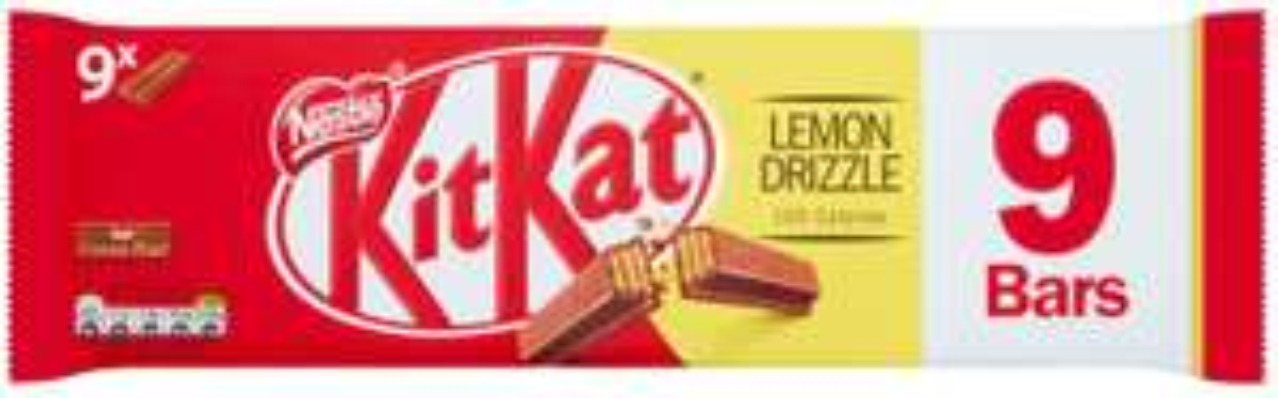 KITKAT 2 Finger Lemon Drizzle Chocolate Biscuit Bar, 9 x 20.7 g £1.50 (+£4.49 Non-prime / £1.43 via S&S)@ Amazon
