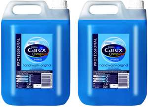 Carex Handwash Professional Original 2 x 5 litre £22.47 @ Amazon