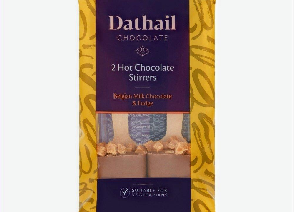 Dathail Chocolate 2 Hot Chocolate Stirrers Belgian Milk Chocolate & Mini Marshmallows Or With Fudge, 79p In Store @ Aldi Robroyston, Glasgow