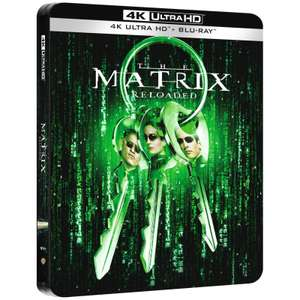 Matrix Reloaded - 4K Ultra HD Exclusive Steelbook £13.99 with free delivery code at Zavvi
