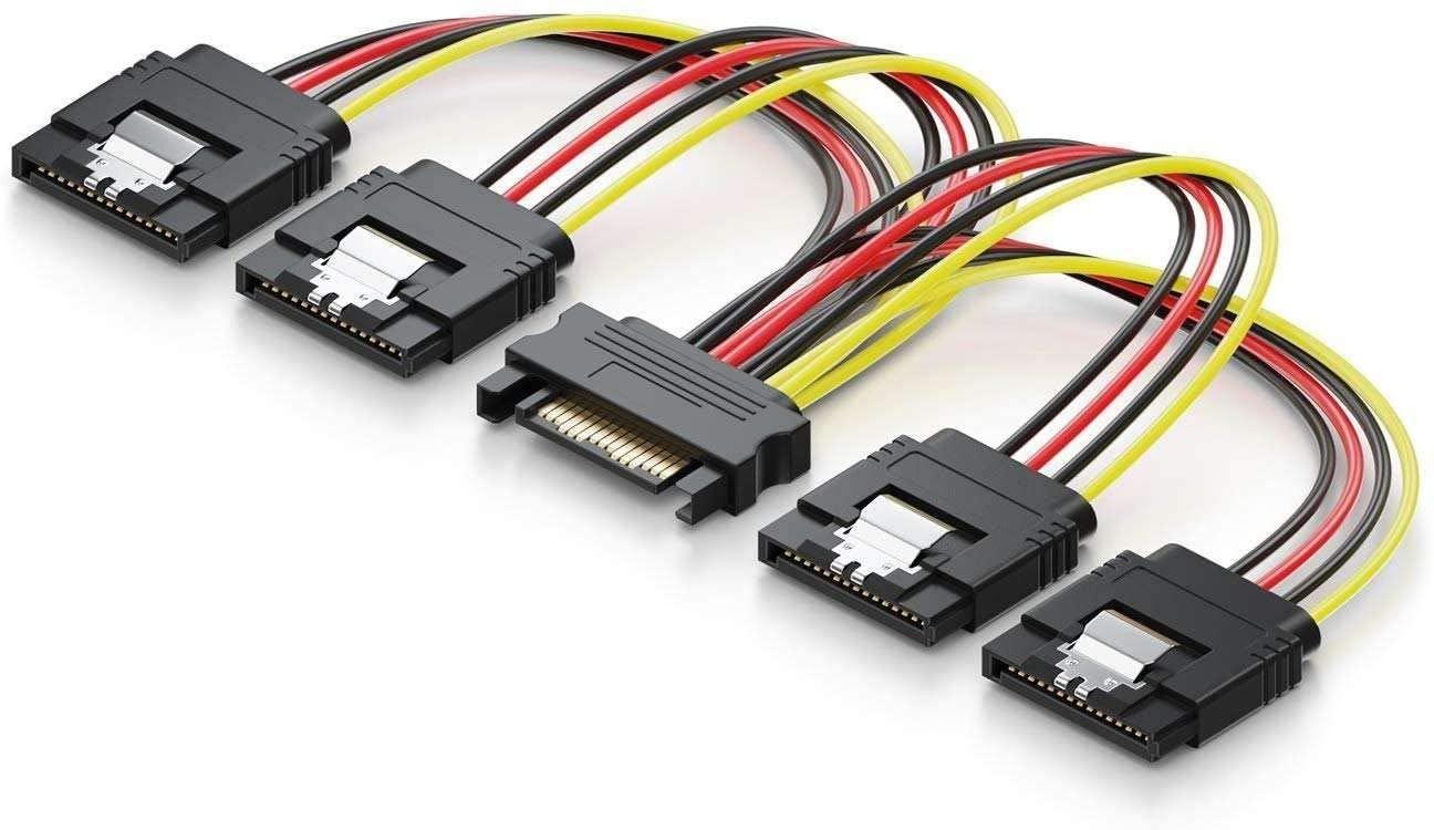 SATA Hard drive 4 way Power splitter - £2.92 + £4.49 NP Amazon