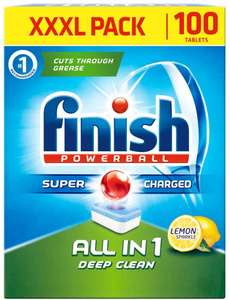 200 Finish Powerball All in 1 deep clean dishwasher tablets at Amazon for £21.99