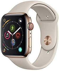 Apple Watch Series 4 (GPS + Cellular, 44mm) - Gold Stainless Steel Case with Stone Sport Band at Amazon for £488.74