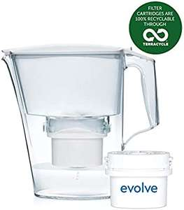 Aqua Optima Liscia 2.5 litres Water Jug + 1 Evolve 30 Day Filter- £7.99 Prime (+£4.49 Non Prime) @ Amazon