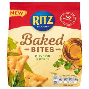 Ritz Olive Oil & Herbs Crackers 100g 50p at Heron Foods Walsall
