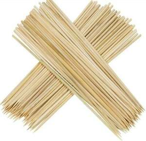 Bamboo Skewers Sticks 150pcs For BBQ Kebab Fruit Wooden Sticks 12Inch - £2.43 @ very_low_low_price / eBay