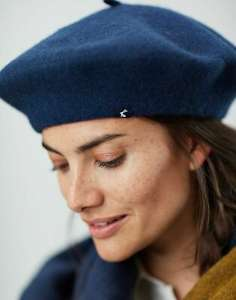 Joules Womens Wilsford Felted Berret - French Navy/Antique Gold/Bilberry in One Size - £3.95 @ Joules / eBay