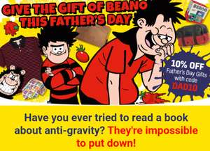 10% off everything (excluding subscriptions) with code @ Beano Shop (+£3.99 p&p or free over £15 spend)