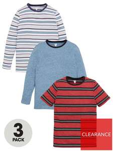 VERY.co.uk - Child & Baby, Clearance e.g. Boys 3 Pack Short and Long Sleeve Stripe T-Shirts - Multi £11 + £3.99 delivery