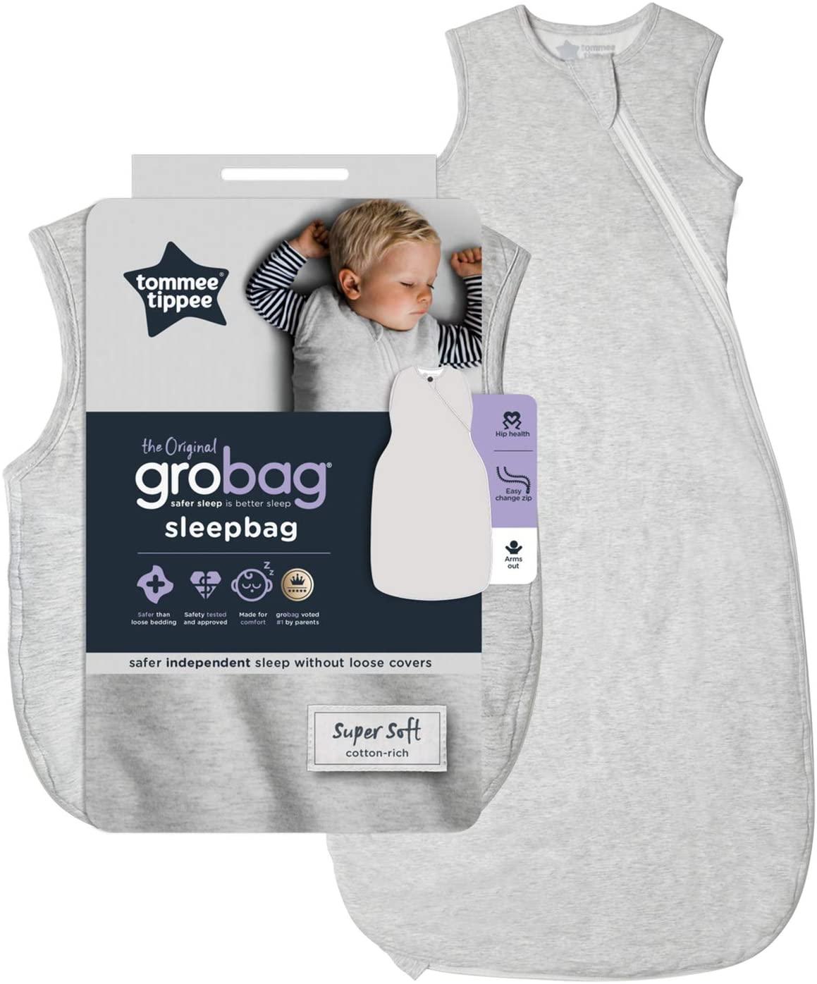 The Original Grobag Grey Marl Sleepbag 0.2 Tog 6-18 Months for £12 Prime (+£4.49 non Prime) at Amazon