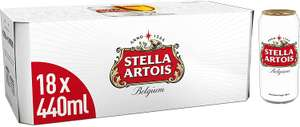 Stella Artois Premium Lager Beer Cans 18 x 440ml£8 (min £15 spend + £3.99 delivery or free with 4 selected items) at Amazon Pantry