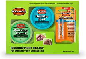 O'Keeffe's Skincare Working Hands, Healthy Feet and Lip Repair, Jar Multipack £11.99 prime / £16.48 nonPrime at Amazon
