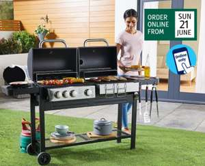 Dual Fuel BBQ £149.99 with 3 year warranty @ ALDI (Online only)