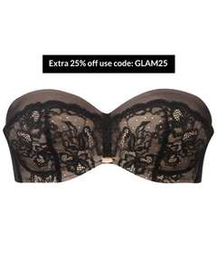 50% off Gossards Glamour Lace Collection plus Extra 25% with Code Bra's £14,25 Briefs £6 (£4 Delivery Free over £50) @ Gossard