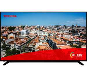 """TOSHIBA 50U2963DB 50"""" Smart 4K Ultra HD HDR LED TV, £279 with code at Currys PC World (Free 6 month Spotify Premium)"""