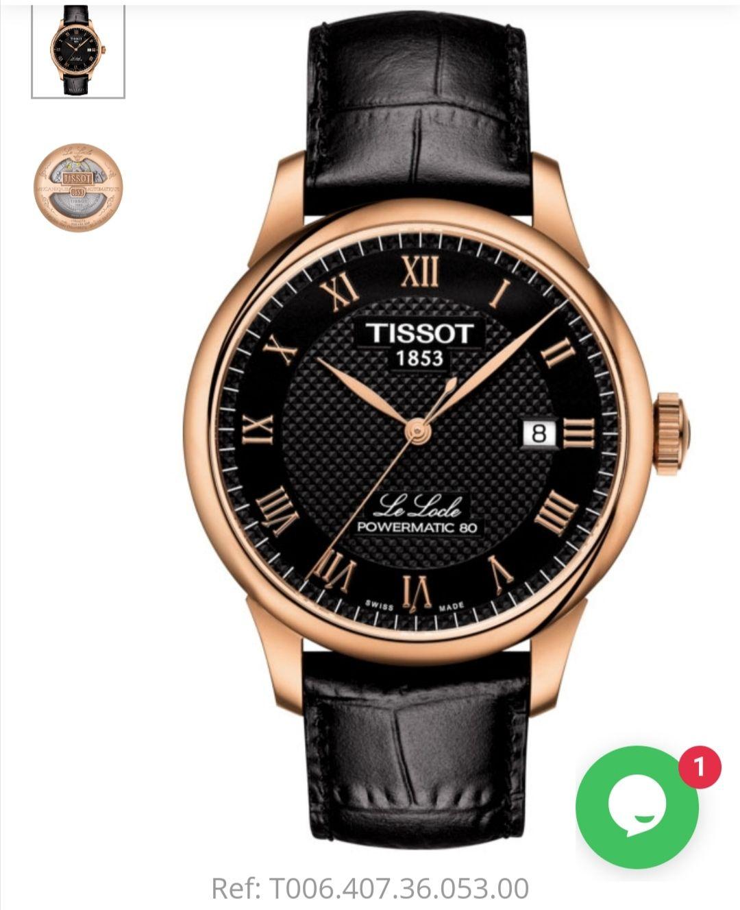 Mens Tissot Le Locle Powermatic80 Watch £315 Banks Lyon