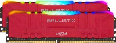 Crucial Ballistix RGB 16GB (2X8GB) 3200 MHz, DDR4 DRAM, C16 Red Memory Kit, £79.97 at sereneituk/eBay