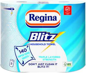Regina Blitz Original 140 Extra Large Triple Layer Sheets, 2 Rolls - £1 @ Amazon Pantry (min spend £15 + £3.99 delivery)
